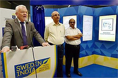 Swedish Ambassador Harald Sandberg speaks at the inauguration of Nobel Memorial Wall at Rajiv Chowk Metro Station (legend_news) Tags: new station wall memorial metro delhi swedish speaks mangu sandberg ambassador director harald inauguration nobel singh rajiv chowk dmrc managing