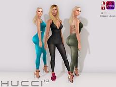 Tabas Jumpsuit @ Genre (Eboni Khan) Tags: world urban female avatar omega sl secondlife virtual genre catsuit jumpsuit maitreya slink applier bodycon hucci houseofhucci