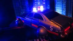 Corgi Toys Buick (Century) Regal Police Car No. 416 Converted Into A Futuristic Sci-Fi Hover Car : Diorama A Hover Police Car City Scene - 33 Of 98 (Kelvin64) Tags: city car century toys buick corgi no police scene scifi converted futuristic regal diorama hover 416 a into