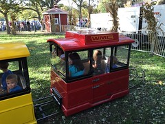 """Paul and Inde Ride a Train at Sonny Acres • <a style=""""font-size:0.8em;"""" href=""""http://www.flickr.com/photos/109120354@N07/22856717649/"""" target=""""_blank"""">View on Flickr</a>"""