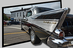 1957 Chevy Bel Air OOB (Chad Horwedel) Tags: black classic chevrolet belair car illinois chevy morris outofbounds oob chevybelair 1957chevybelair morriscruisenight