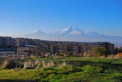 Ararat from Yerevan, Armenia. (daniel2085) Tags: autumn mountain mount armenia sis yerevan masis ararat հայաստան երեան արարատ մասիս աշուն