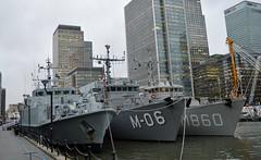 Minesweepers (4) @ West India Dock 30-11-15 (AJBC_1) Tags: uk england london boat ship unitedkingdom military navy vessel docklands canarywharf nato warship minesweeper eastlondon mcv nikond3200 koninklijkemarine dutchnavy m06 netherlandsnavy navalvessel royalnetherlandsnavy m108 westindiadock sandownclass minehunter m860 latviannavy snmcmg1 hmsgrimsby latviannavalforces tripartiteclassminehunter minecountermeasuresvessel alkmaarclass latvijasjrasspki sandownclassminehunter lvnstalivaldis dlrblog ajc hnlmsschiedam
