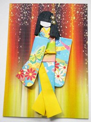 ATC1304 - Curtain call 2 (tengds) Tags: pink flowers blue brown green yellow atc artisttradingcard butterfly stars asian japanese curtain geisha kimono obi origamipaper artcard papercraft japanesepaper ningyo handmadecard chiyogami asiandoll japanesepaperdoll nailsticker origamidoll kimonodoll nailartsticker tengds