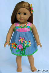 American Girl Clothing - Summer Flowers Dress Outfit (totallydolls) Tags: summer girl spring outfit clothing inch doll dolls dress american ag 18