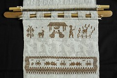 Backstrap Loom Mexico Nativity Scene (Teyacapan) Tags: christmas mexico navidad mexican textiles loom oaxacan weavings tejidos istmo telar huave backstrap sanmateodelmar ikoots