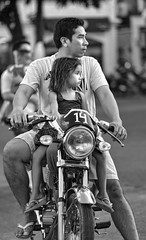 Daddy and Daughter on Motorbike (FotoGrazio) Tags: watching asian portrait composition flipflops travelphotography kid fotograzio younggirl photographicart internationalphotographer worldphotographer sandals man waynegrazio streetphotography driver artofphotography ilocosnorte pinoy waiting californiaphotographer documentaryphotography male streetportrait sitting family motorbike waynesgrazio streetscene pacificislanders people digitalphotography photographicartist 500px photography philippines flickr cute sandiegophotographer vigan transportation girl child portraiture father profiles balancing filipino adorable littlegirl daughter blackandwhite batangbabae socialdocumentary