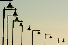 Rhythm of lights II (Jan van der Wolf) Tags: map150290v rhythm herhaling repetition composition compositie streetlamp lamps straatlantaarn straatlantaarns lanzarote perspective perspectief