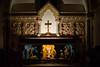 Christmas Carols by candle light (Jean Latteur) Tags: northbourne church candle light christmas nativity creche scene jesus baby joseph mary angel cross kent england nikon d3300 35mm f18