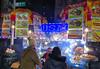 corner of W 49th & 5th, NYC (wortenoggle) Tags: new york city nyc gyro hot dog street corner food truck cart