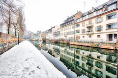 La Petite France Reflections with ducks (Loopylou2u) Tags: strasbough france lapetite canals winter europe