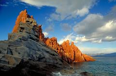 Sardinia, Italy. Arbatax (Alain Rempfer) Tags: sardaigne sardinia arbatax mer sea rochesrouges redrocks nikonfm2 analog argentique film 24mm paysage landscape borddemer seaside italie italy ngc