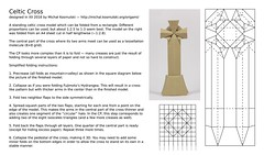 Celtic Cross CP and basic instructions (Michał Kosmulski) Tags: origami cross shrine monument christian celticcross standingcross highcross irish celtic british tomb grave michałkosmulski folding instructions tutorial cp creasepattern tessellation molecule