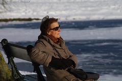 Portrait (Natali Antonovich) Tags: portrait tervuren belgium belgie belgique winter snow frost christmas christmasholidays nature park profile stare reverie relaxation lifestyle sunglasses