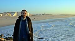 DSC_4088 (mrsdyvz) Tags: sun portugal aveiro nikon d3200 sundown portrait model beach sand sea ocean water waves glasses rock silhouttes horizon harmony sky blue clouds costa nova praia