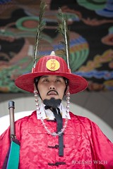 Palace Guard (Rolandito.) Tags: south korea südkorea coree du sud seoul portrait palace guard dress costume beard hat