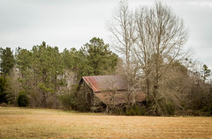 Aging barn - Anderson Co. S.C. (DT's Photo Site - Anderson S.C.) Tags: canon 6d 24105mml lens andersonsc country road vintage disappearing barn south rustic landscape aging southen farm