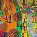 ציור נאיבי לונה פארק בתל אביב גלגל ענק קרוסלה מכוניות מתנגשות גן שעשועים מגלשות פארק שעשועים אמנות נאיבית בינלאומית רפי פרץ