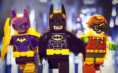 Bat Crew at the Ready (Jezbags) Tags: batman robin batgirl canon60d canon macro macrophotography macrodreams macrolego lego 100mm dc legodc closeup upclose red black purple batterang