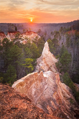 Providence Canyon (robertdownie) Tags: trees forest sunset colour sands canyon southern grand georgia clay coloured state park united states america pinnacles usa providence