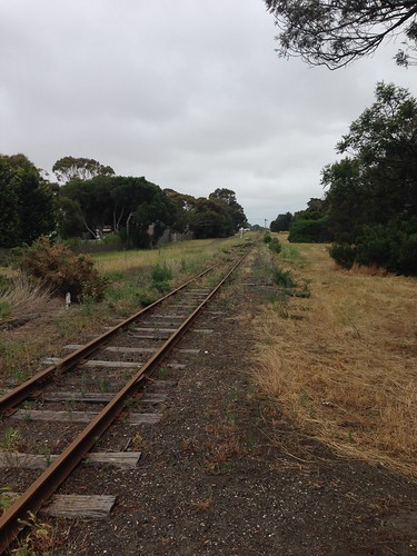 Old Bellarine Railway track near Geelong