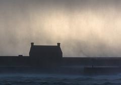 Saltcoats hailstorm (stoneleighboy) Tags: winter storm hail rain scotland colour coast sea weather january nikon cold squall buildings wow d750 sky outdoor