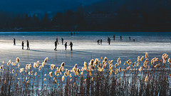 Silhouettes on the ice (Nicola Pezzoli) Tags: lago endine lake ice winter cold bergamo lombardia italy tourism colors monasterolo silhouette blue
