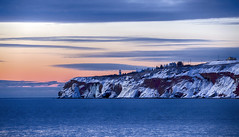 First Sunrise (Danny VB) Tags: sunrise winter snow water atlantic gaspesie perce quebec canada canon 6d ef70200mmf28lisiiusm sky clouds colour color hiver neige cold froid