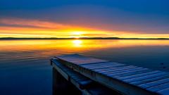 Morning Light (Jens Haggren) Tags: olympus em1 morning sunrise sun light sky clouds colours sea seascape water jetty reflections frost landscape view nacka sweden jenshaggren