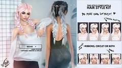 Out now! Regan @ Collabor88 (liza.broono) Tags: sl second life foxy mesh hair store braid braids fitted regan style collabor collabor88 fashion event rebel gal villena circlet ribbons catwa rama