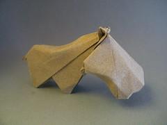 Hippopotamus - Patricio Kunz Tomic (Rui.Roda) Tags: origami papiroflexia papierfalten hippo hipopotamo hippopotamus patricio kunz tomic