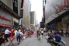 Pedestrian Walkway (Read2me) Tags: city nyc people urban buildings crowd ge pree cye thechallengefactory superherowinner