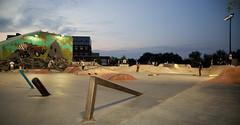 Skate Park Lights (City of Fort Collins, CO) Tags: park city sunset lights downtown fort skating skate collins