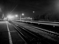 Arrival (skochkarev) Tags: light lamp station night train local