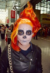DSC_0141 (Randsom) Tags: nyc halloween face dayofthedead fun october paint cosplay wig superhero demon devil comicbooks leatherjacket spandex marvelcomics ghoul ghostrider javitscenter 2015 eldiadelosmuertos nycc nycomiccon newyorkcomiccon nycc2015