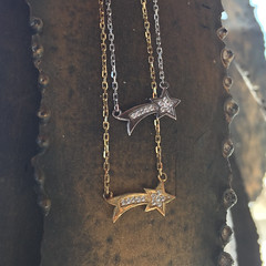 Stellar Luck Charms (lilyandquinn) Tags: stars gold star luck lucky cz necklaces goodluck luckycharm shootingstar sterlingsilver cubiczirconia luckcharms