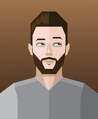 Vector selfportrait (Andyfrog321) Tags: portrait brown selfportrait me face hair beard head illustrator vector andyfrog321