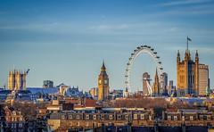Gold Westminster (aurlien.leroch) Tags: uk sunset england london westminster westminsterabbey skyline gold nikon europe cityscape housesofparliament londoneye londres d3000