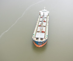 A US Coast Guard photo of the Conti Peridot after a March 2015 collision with the Carla Maersk in the Houston Ship Channel. (TradeWindsnews) Tags: coastguard us cg texas unitedstates spill collision oilspill uscg mtbe houstonshipchannel morganspoint padethouston stationhouston contiperidot carlamaersk