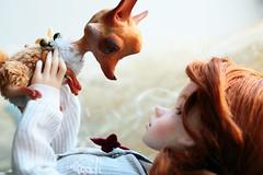 let's <3 each other (oso_polar) Tags: girl toy doll friendship handmade redhead fox bjd dim laia dimdoll minifee