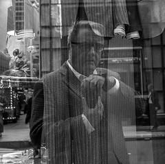 The Obligatory New York Reflection Selfie (cbonney) Tags: new york city reflection manhattan selfie