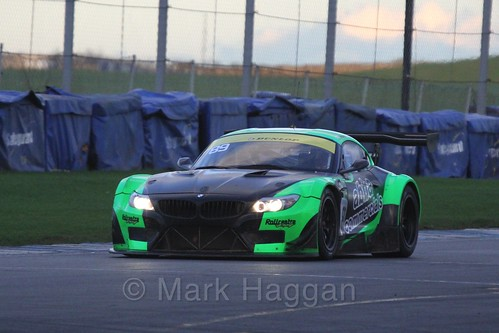 The BMW Z4 GT3 of Richard Neary and Martin Short in Endurance Racing during the BRSCC Winter Raceday, Donington, 7th November 2015