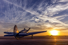 Sun Shining On The Helldiver (rebeccalatsonphotography) Tags: morning sunrise canon airplane texas tx aviation wwii houston airshow warbird curtiss 1635 helldiver wingsoverhouston avgeek sb2c 5dsr