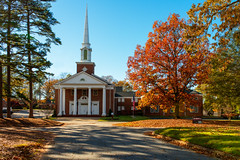 Childhood Memories (photogenicZ) Tags: autumn trees red orange color fall sc church leaves yellow nikon south sigma foliage anderson southeast onone d800 sigma35f14art perfecteffects8 popedrivebaptistchurch