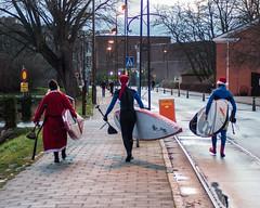 surfing santas (Mange J) Tags: santa xmas se surf pentax sweden sverige malm sup resund skneln tamronaf70300mmf456ldmacro pentaxart streetsurfers magnusjakobsson k5ii