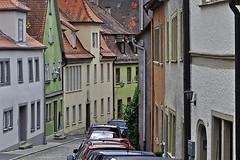 Curving Away (AntyDiluvian) Tags: road street trip germany deutschland town colorful winding rothenburg narrow 2015 romanticroad rothenburgobdertaube rothenburgodtaube