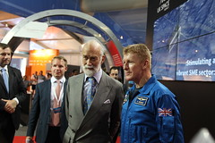 Tim Peake and Prince Michael of Kent - Farnborough Air Show 2014 (Gordon Calder - 5 Million Views - Thanks!) Tags: uk official first astronaught