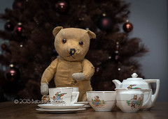 #47 A Childhood Memory (belincs) Tags: uk childhood december flash indoor lincolnshire teddybear teaset 2015 115picturesin2015