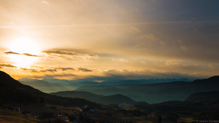 Sunset over Castelrotto