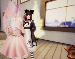 Adored (littlerowan) Tags: doll transformation makeup lingerie lolita makeover egl dolly petticoat bloomers dollface gothiclolita pannier thighhighs stripedsocks hairbows himelolita katat0nik pixicat